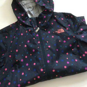 Women's Polka dot north face raincoat